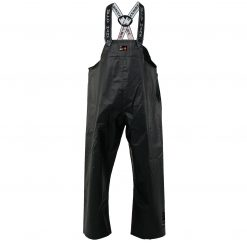 Men's black workwear Double Bib Pant