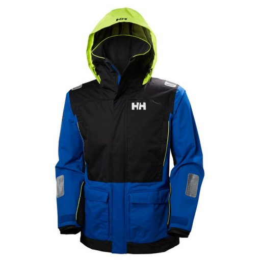 Men's blue Coastal Jacket with hood