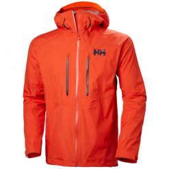 Men's orange outdoor and hiking Shell Jacket