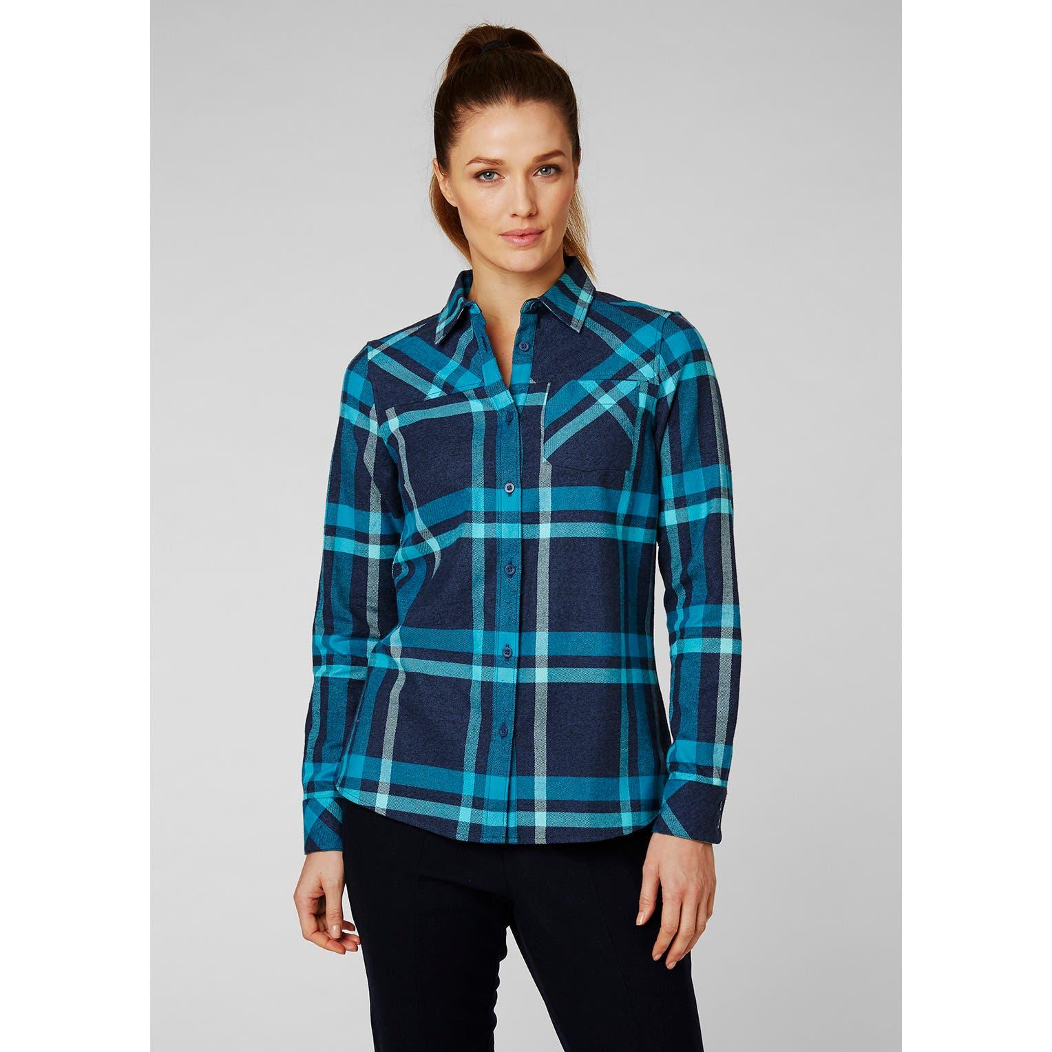 Helly Hansen Womens Classic Check Long Sleeve Outdoor Tech Shirt